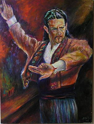 Painting - Flamenco Dancer Xx by Sylva Zalmanson