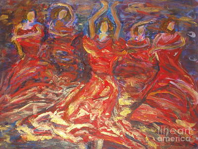 Flamenco Dancers Art Print