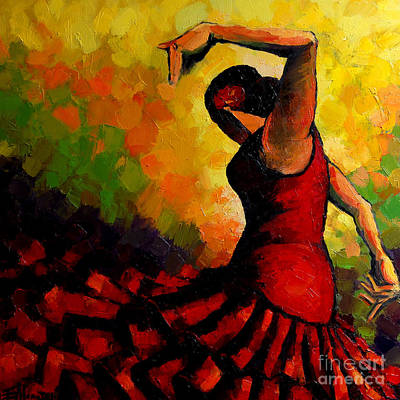Joyful Painting - Flamenco by Mona Edulesco