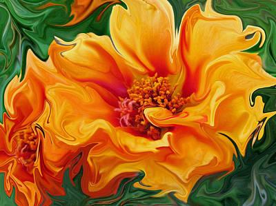 Flamenco Floral Art Print by Suzy Freeborg