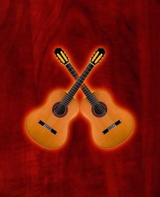 Flamenco  Guitar  Art Print by Doron Mafdoos