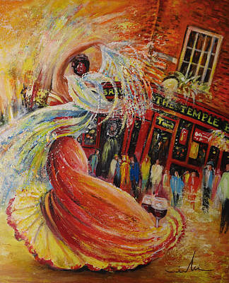 Painting - Flamenco In Dublin by Miki De Goodaboom