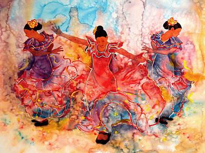Of Dancers Painting - Flamenco by John YATO