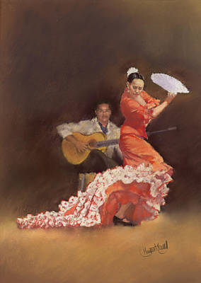 Flamenco Art Print by Margaret Merry