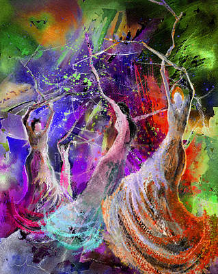 Painting - Flamenco Nights by Miki De Goodaboom