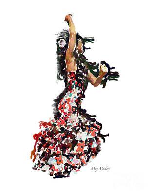 Flamenco Series #12 Print by Mary Machare