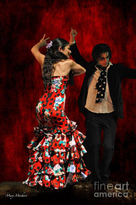 Flamenco Series #9 Art Print by Mary Machare