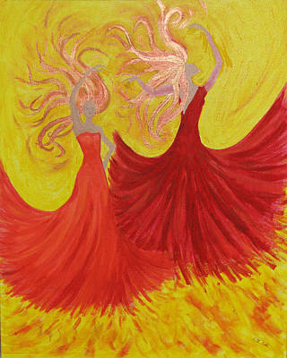 Art Print featuring the painting Flamenco by Stephanie Grant