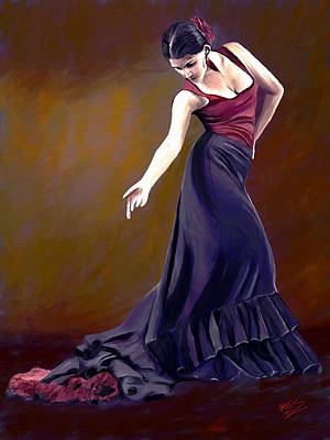 Passionate Painting - Flamenco Style by James Shepherd