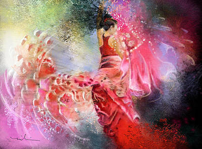 Spain Mixed Media - Flamencoscape 13 by Miki De Goodaboom