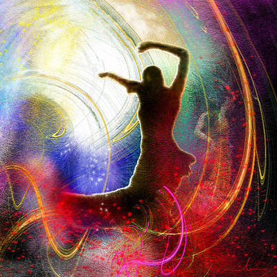 Gypsy Digital Art - Flamencoscape 16 by Miki De Goodaboom