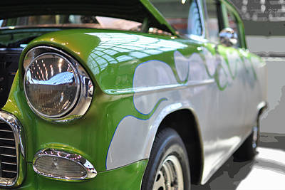 Photograph - Flames - '57 Chevy Bel Air Coupe by Paulette B Wright