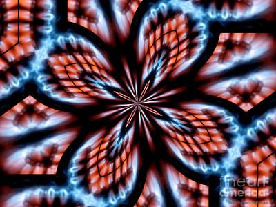 Photograph - Flames Kaleidoscope 2 by Rose Santuci-Sofranko