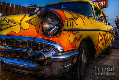 Classic Car Photograph - Flames by Keith Russell