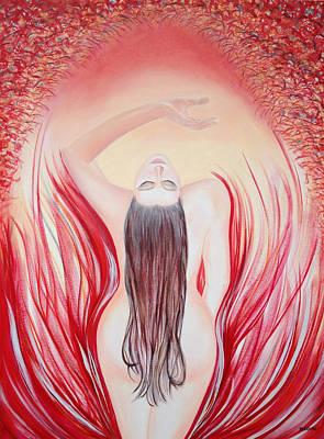 Flames Of Desire Art Print by Dzovig