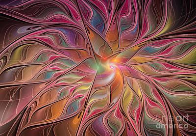 Flames Of Happiness Art Print by Deborah Benoit