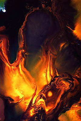 Photograph - Flames Of Love - Liquid Abstract Art By Kredart by Serg Wiaderny