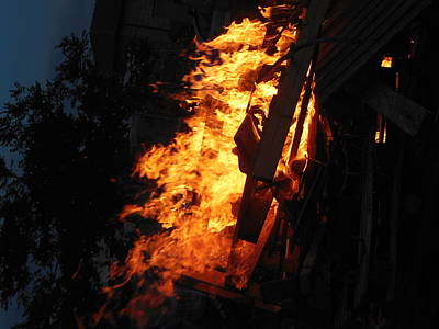 Photograph - Flames On Lag Baomer  by Esther Newman-Cohen