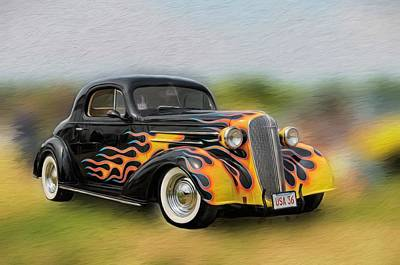 Photograph - Flames On Wheels by Liz Mackney