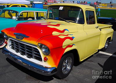 Photograph - Flamin' Chevy Truck by Mark Spearman