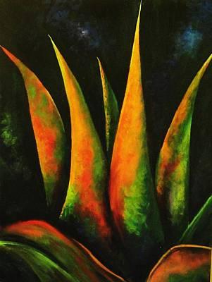 Flaming Aloe Art Print by Migdalia Bahamundi