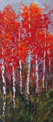 Flaming Autumn Art Print by Vicki Conlon