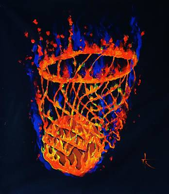 Painting - Flaming Basket by Thomas Kolendra