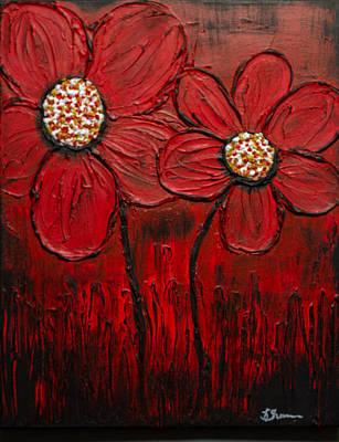Painting - Flaming Daisy by Kathy Sheeran