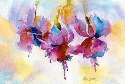 Flaming Fuchsias Art Print by Pat Yager