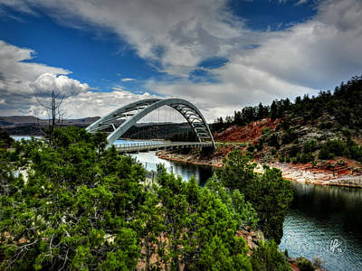 Photograph - Flaming Gorge - Cart Creek Bridge by Lance Vaughn