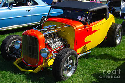 Photograph - Flaming Hot Rod by Mark Spearman