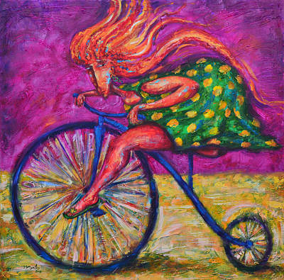 Painting - Flaming Hurry by Pablo Montes