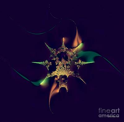 Digital Art - Flaming Jewel by Maria Urso