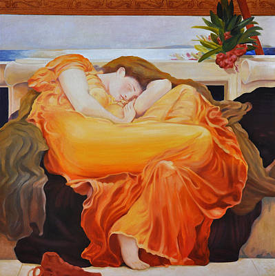 Flaming June Painting - Flaming June by Barry Shereshevsky