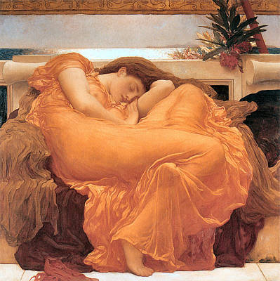 Naiad Digital Art - Flaming June by Lord Frederick Leighton