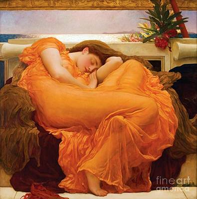 Flaming June Painting - Flaming June by Pg Reproductions