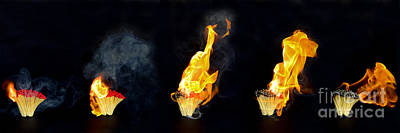 1920s Flapper Girl - Flaming matches panorama by Christopher Edmunds