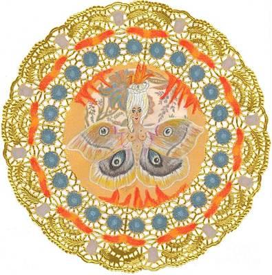 Flaming Moth Art Print by Juliana Brandon
