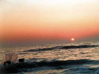 Photograph - Flaming Orange Sunset by Belinda Lee