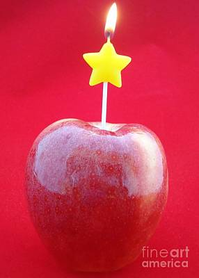 Photograph - Flaming Red Apple by Barbie Corbett-Newmin