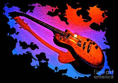 Flaming Rock Art Print