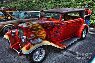 Yorba Photograph - Flaming Rod by Tommy Anderson