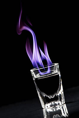 Drunk Photograph - Flaming Sambuca by Samuel Whitton