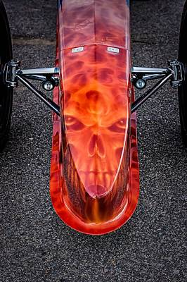 Photograph - Flaming Skull Nose Art by Jeff Sinon