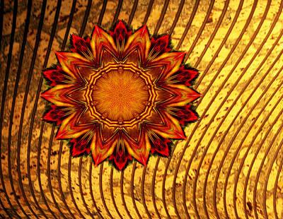 Brown Toned Art Digital Art - Flaming Star by Linda Phelps