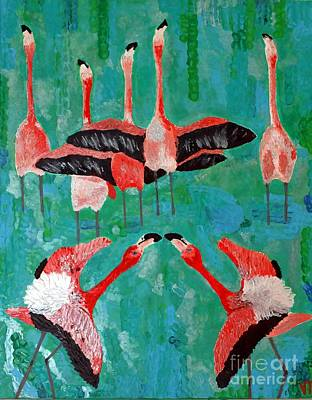 Flamingo 3 Art Print by Vicky Tarcau