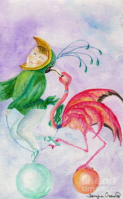 Painting - Flamingo Circus by Tamyra Crossley