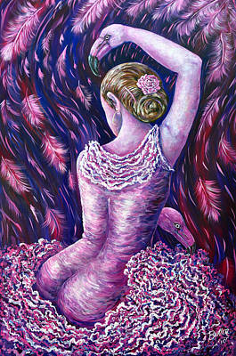 Painting - Flamingo Dancer by Gail Butler