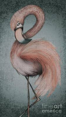 Digital Art - Flamingo Dancer by J Kinion