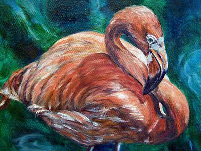Flamingo Flare Art Print